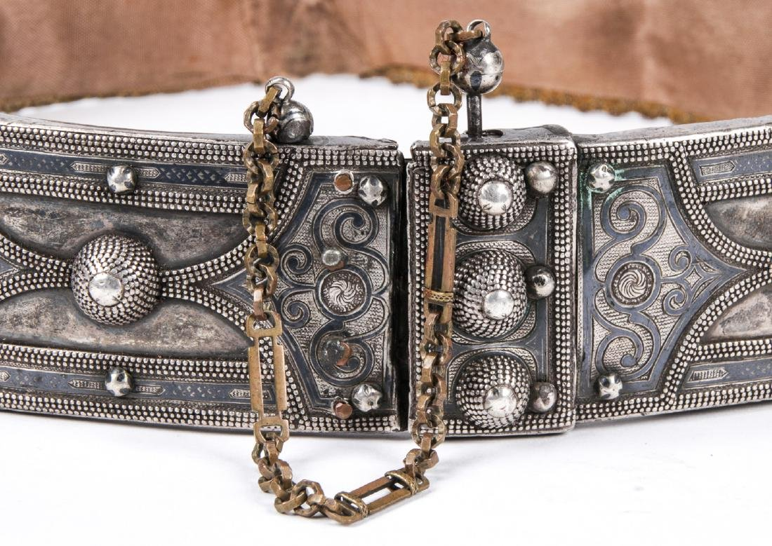Antique Caucasian/Russian Silver Belt - 2