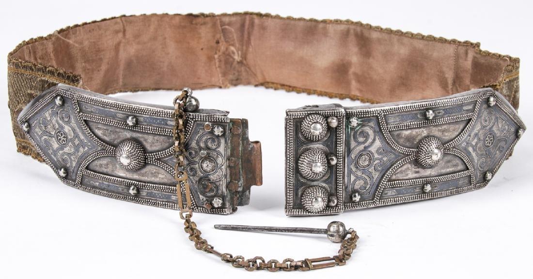 Antique Caucasian/Russian Silver Belt - 3