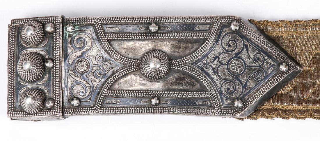 Antique Caucasian/Russian Silver Belt - 5