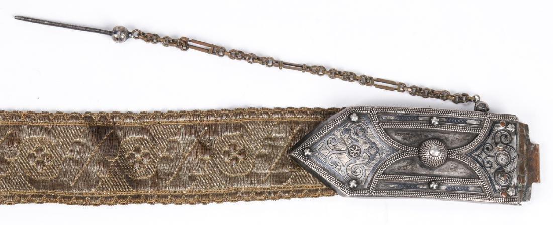 Antique Caucasian/Russian Silver Belt - 6
