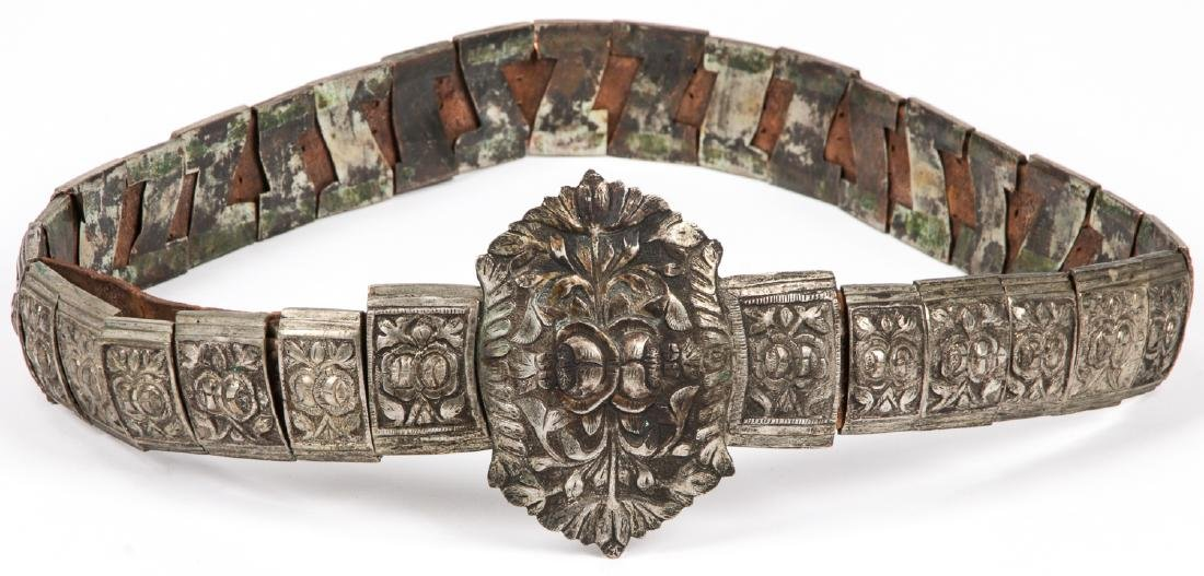 Antique Caucasian/Russian Silver Belt