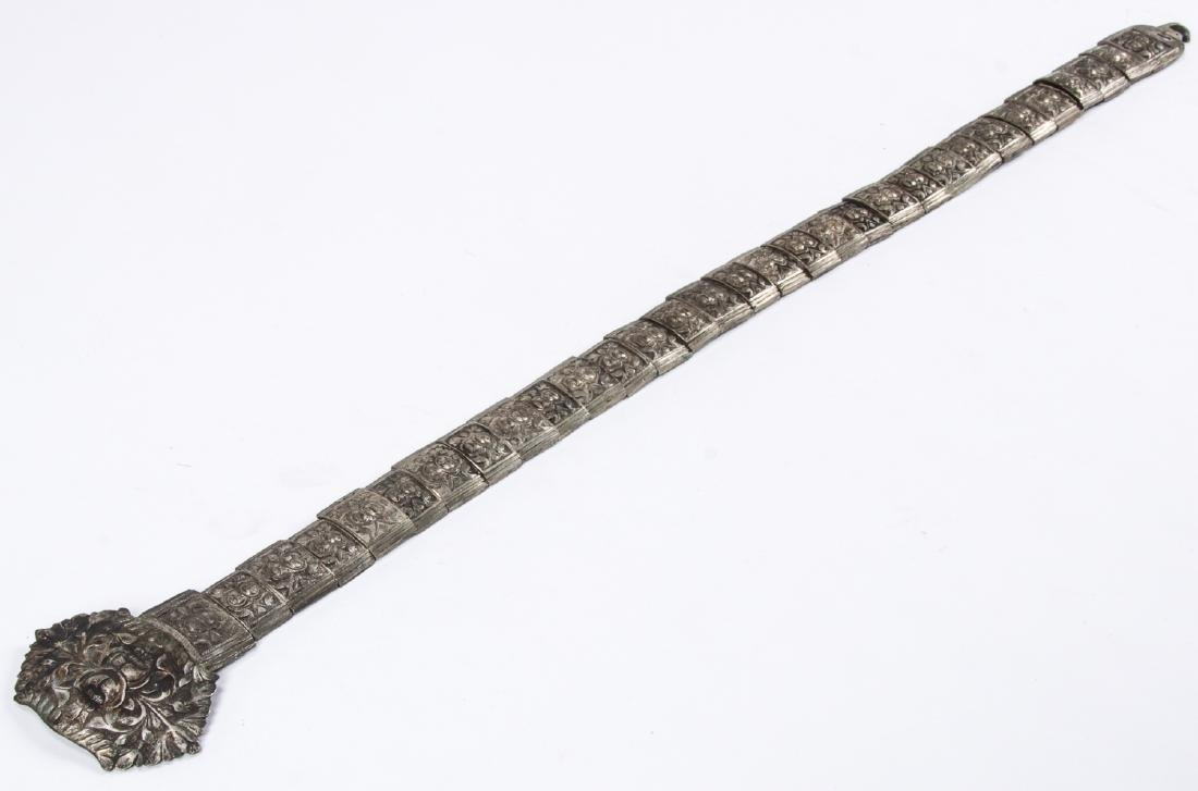 Antique Caucasian/Russian Silver Belt - 5