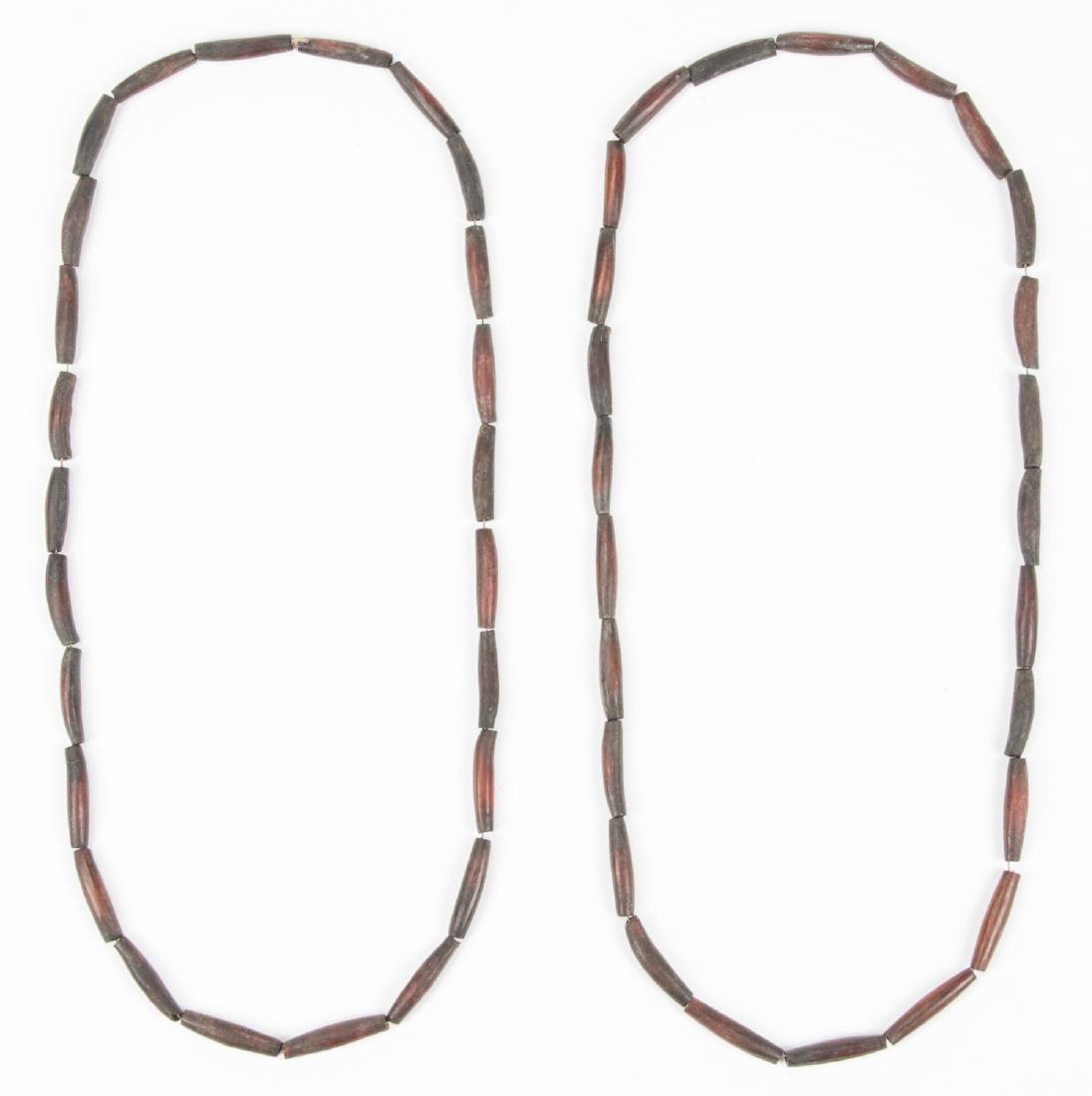 Pair of Plains Bone Pipe Necklaces