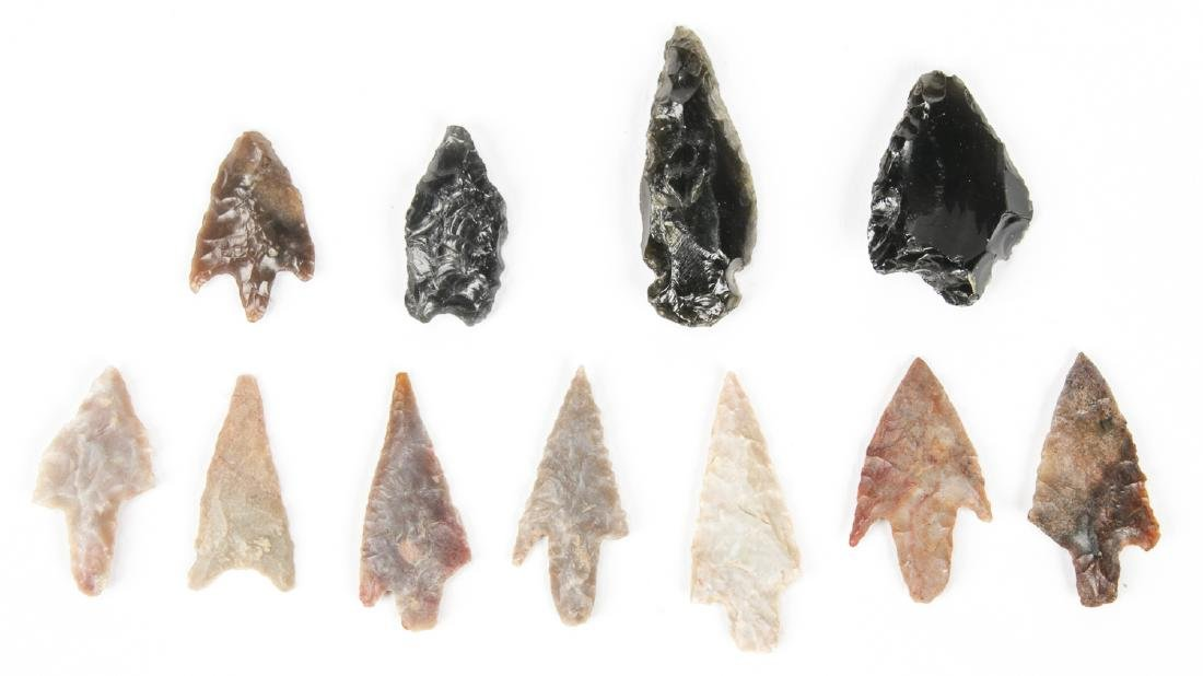 Collection of 11 Utah Arrowheads