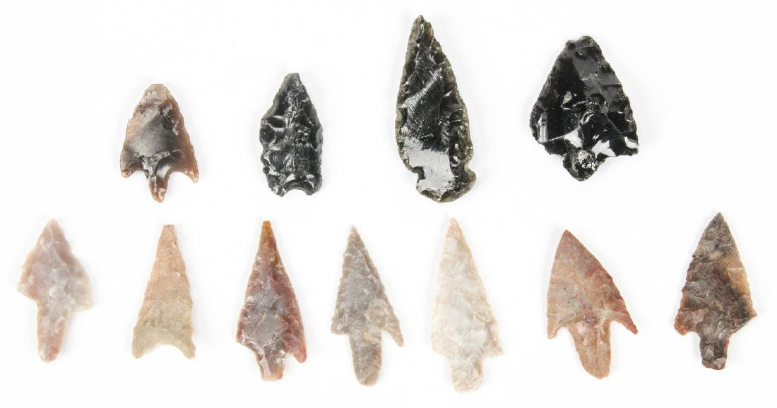Collection of 11 Utah Arrowheads - 2