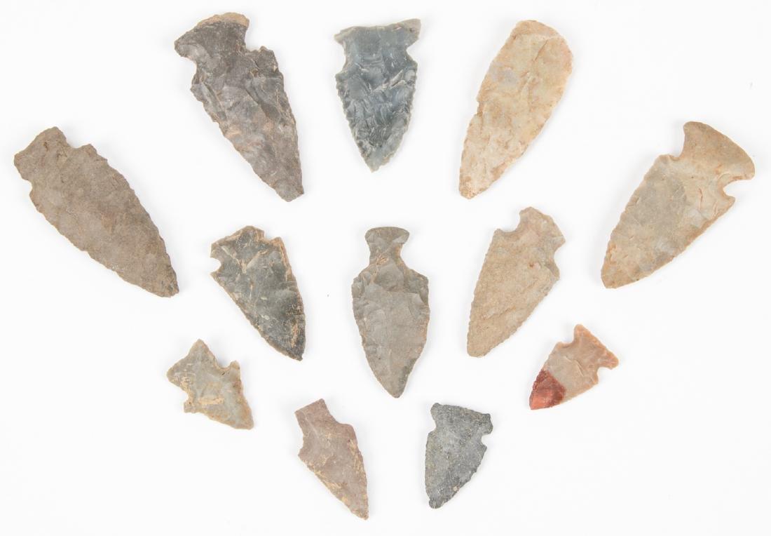 Collection of 12 Kentucky Arrowheads