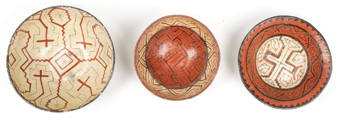 3 Old Peruvian Shipibo Bowls