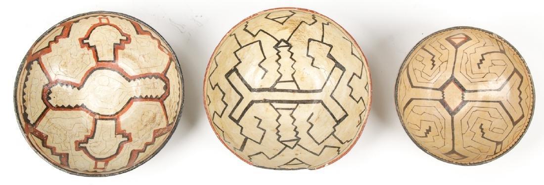 3 Peruvian Shipibo Bowls