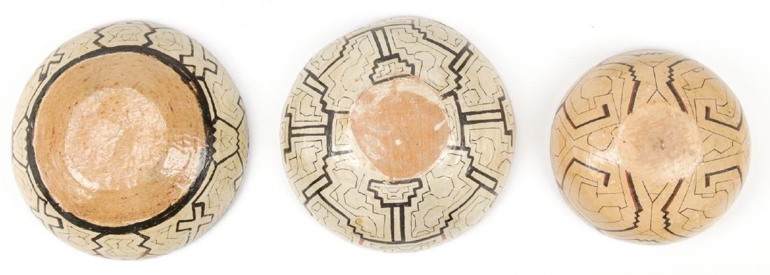 3 Peruvian Shipibo Bowls - 2