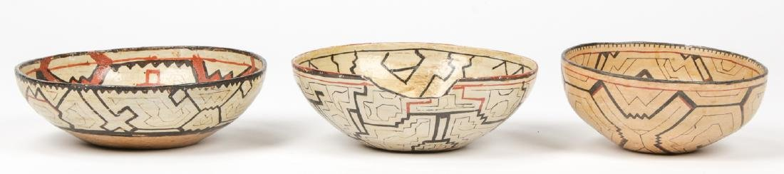 3 Peruvian Shipibo Bowls - 3