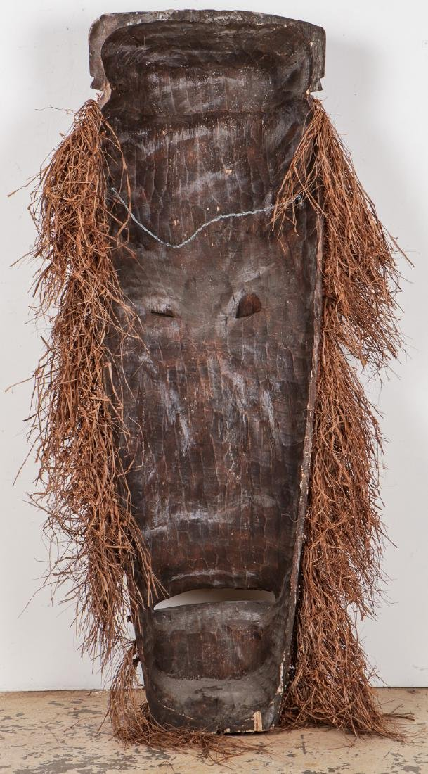 """Two Monumental African Tribal Masks: Ht. 70"""" - 10"""