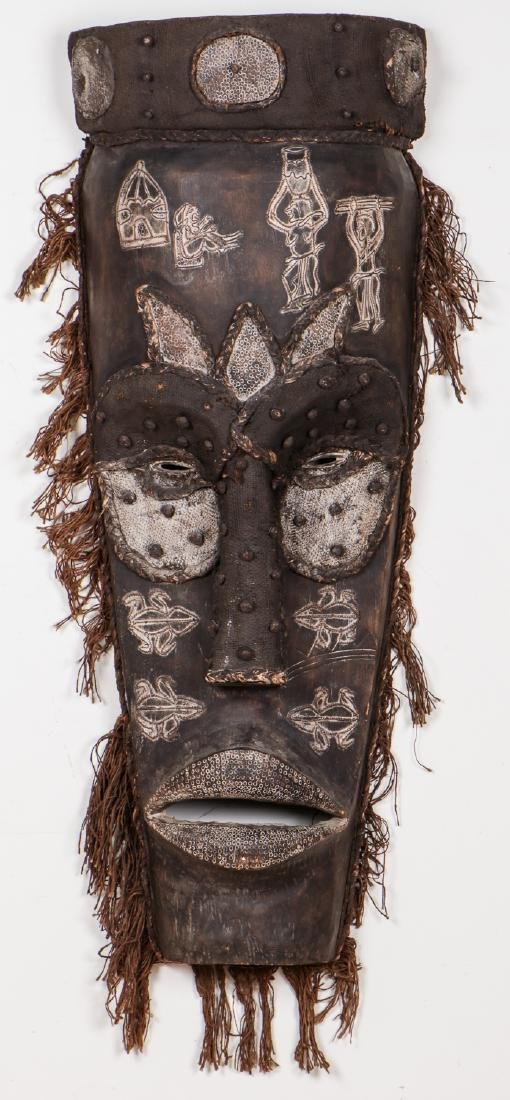 """Two Monumental African Tribal Masks: Ht. 70"""" - 2"""