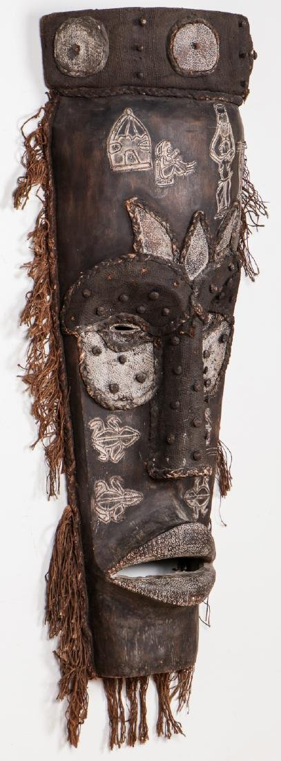 """Two Monumental African Tribal Masks: Ht. 70"""" - 4"""