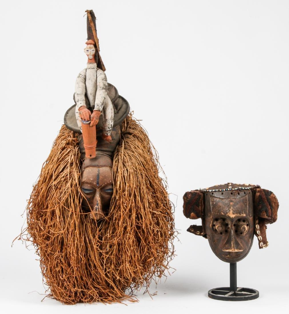 2 Vintage African Masks