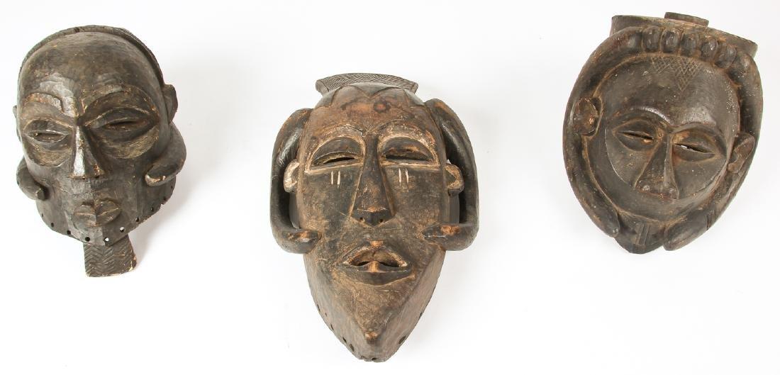 3 African Kuba Masks