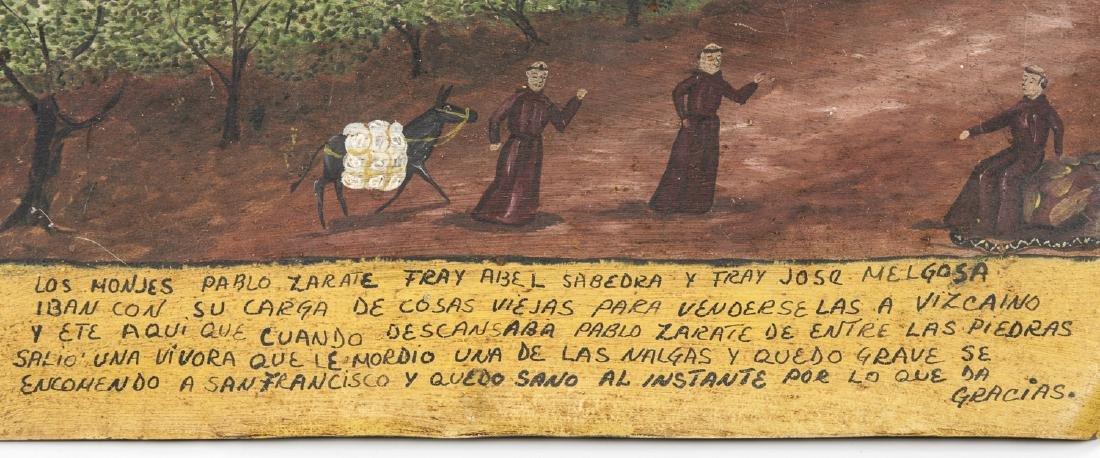 Vintage Mexican Retablo Painting on Tin - 2