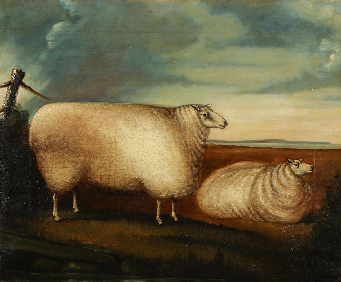 Antique British School Pastoral Landscape with Sheep - 2
