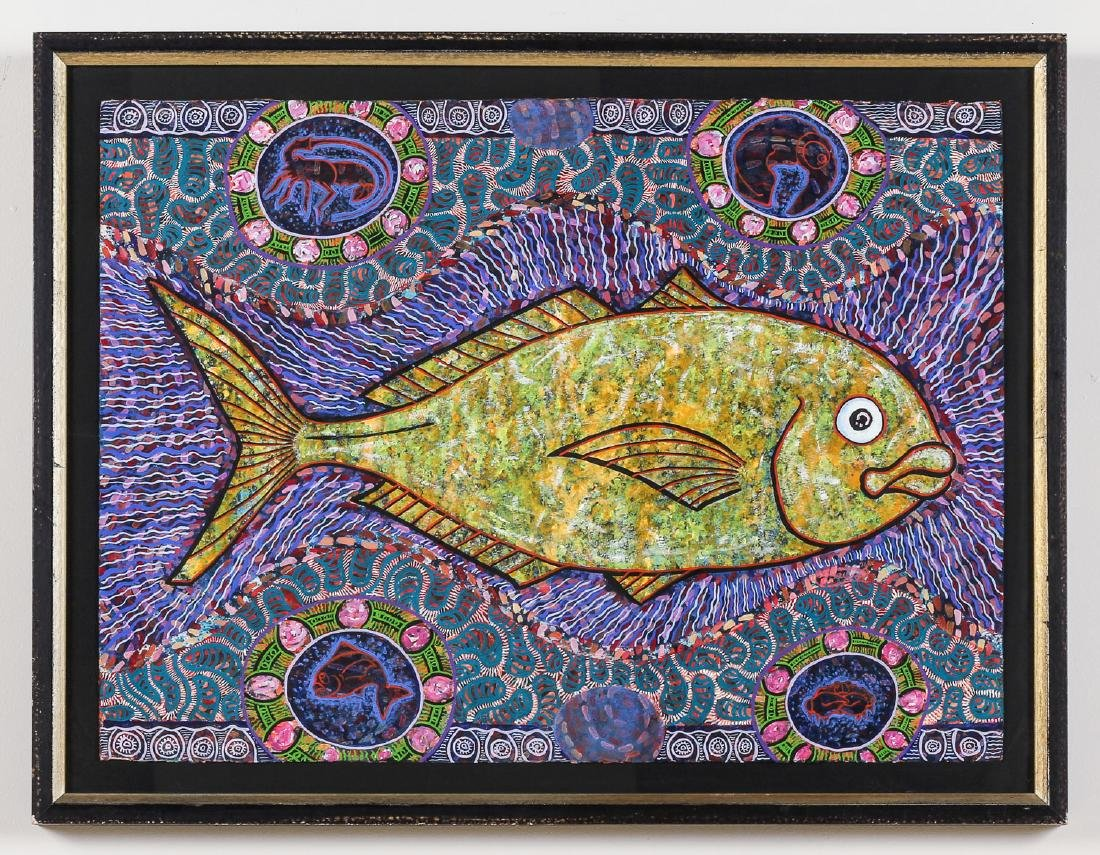 Balinese School (20th c.) Fish Painting