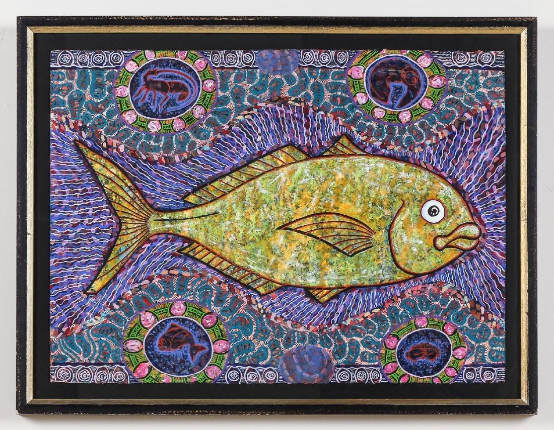 Balinese School (20th c.) Fish Painting