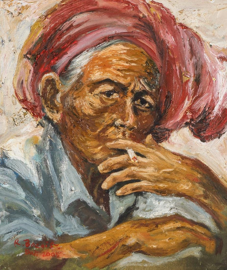 "Randhy Boegis (b. 1970) ""Old Lady Take a Rest"""