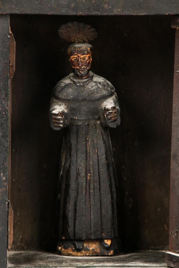 Old Guatemalan Santo in Nicho Cabinet - 6