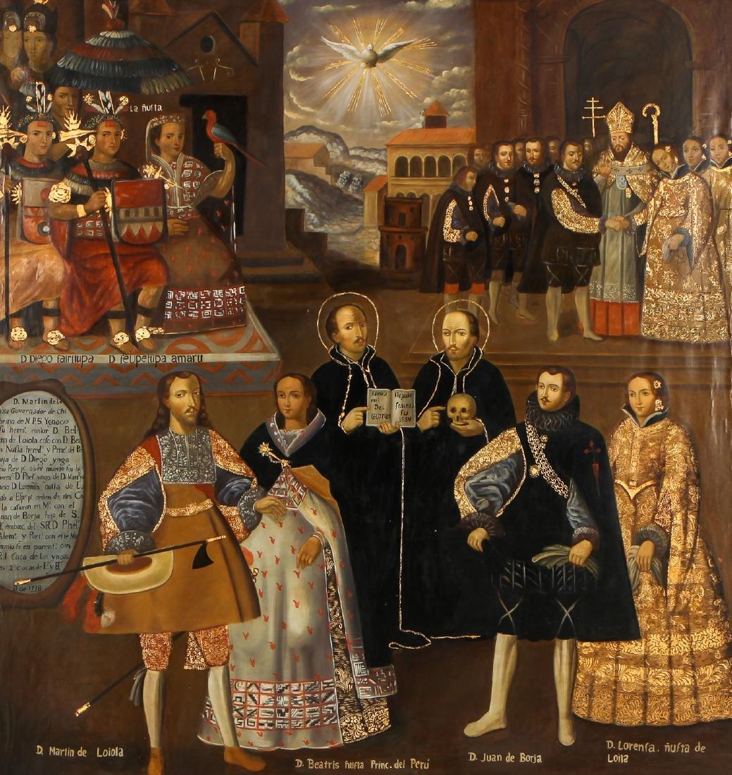 Fine Cuzco School Painting, 20th C. - 2