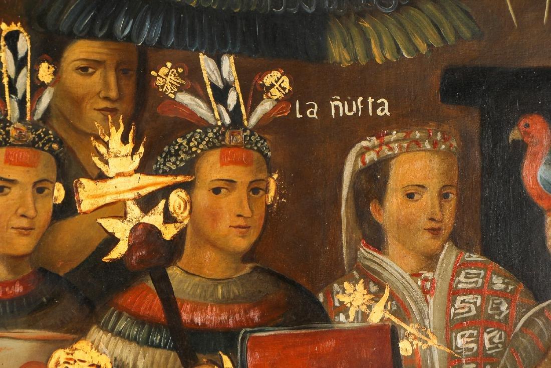 Fine Cuzco School Painting, 20th C. - 7