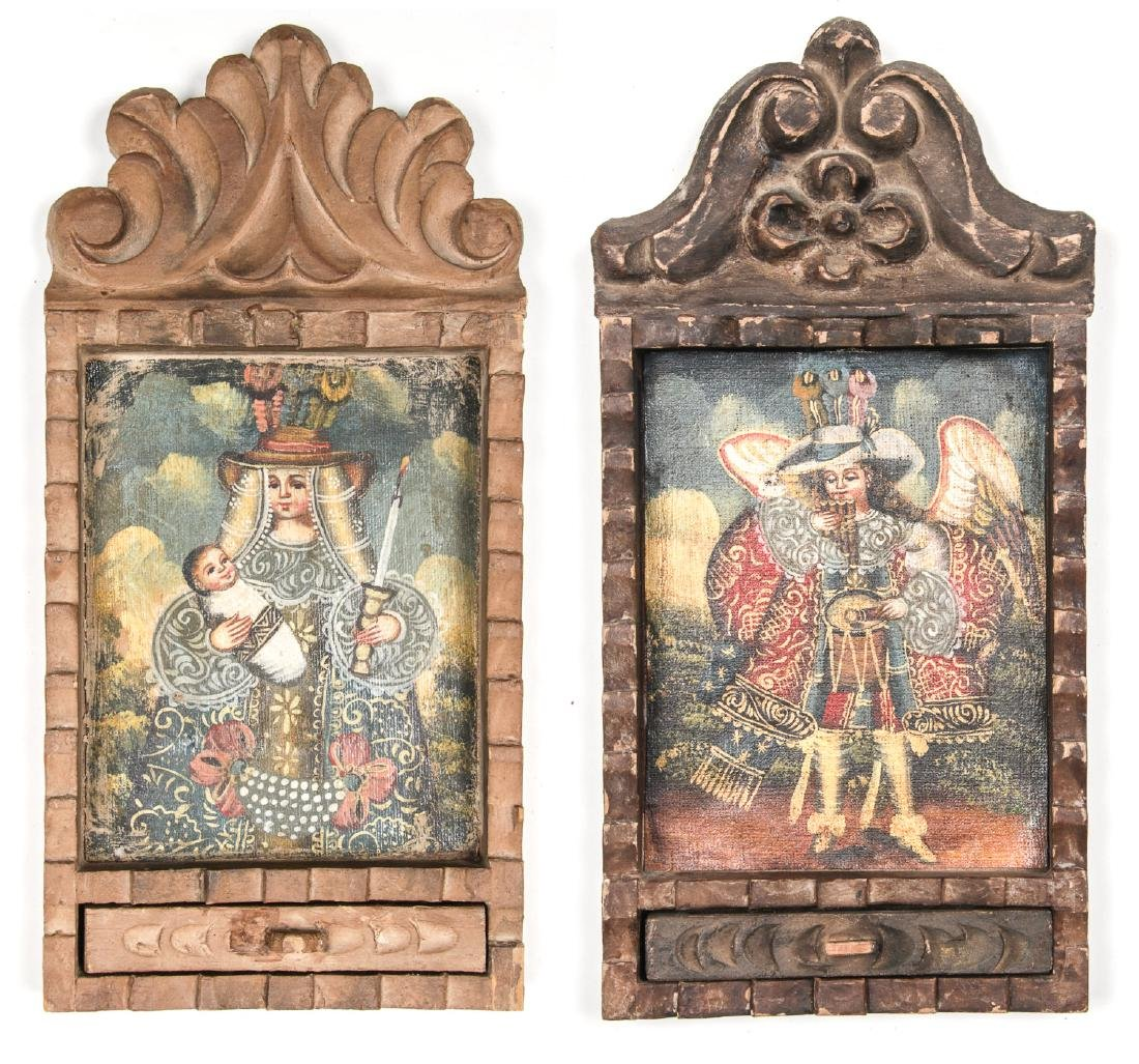 2 Spanish Colonial (Cuzco School) Peruvian Paintings