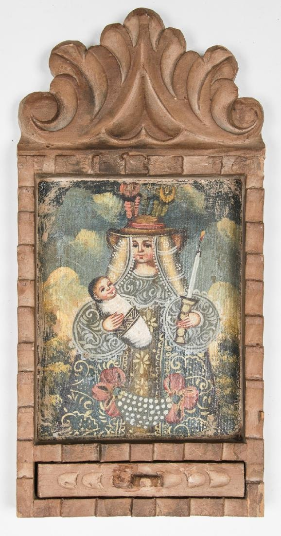 2 Spanish Colonial (Cuzco School) Peruvian Paintings - 2