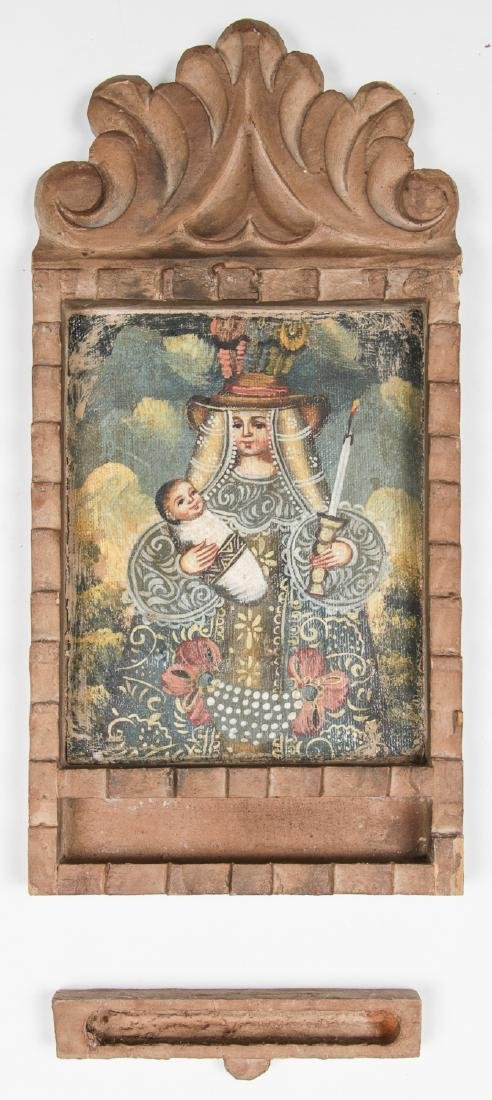 2 Spanish Colonial (Cuzco School) Peruvian Paintings - 3