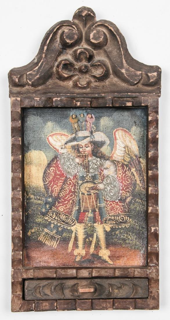 2 Spanish Colonial (Cuzco School) Peruvian Paintings - 6