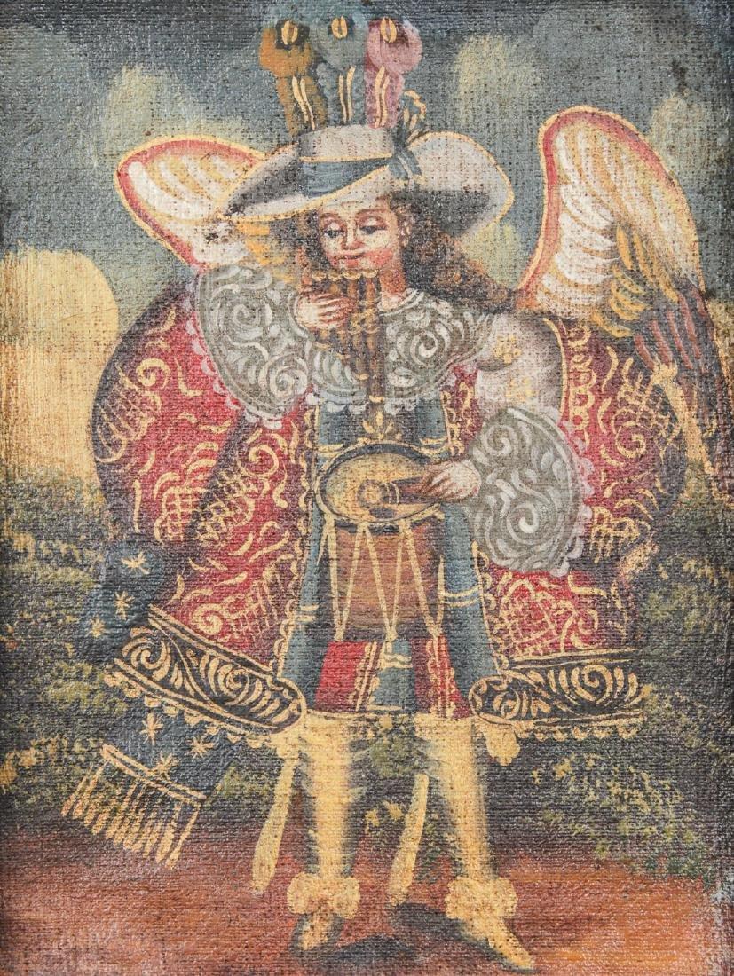 2 Spanish Colonial (Cuzco School) Peruvian Paintings - 7
