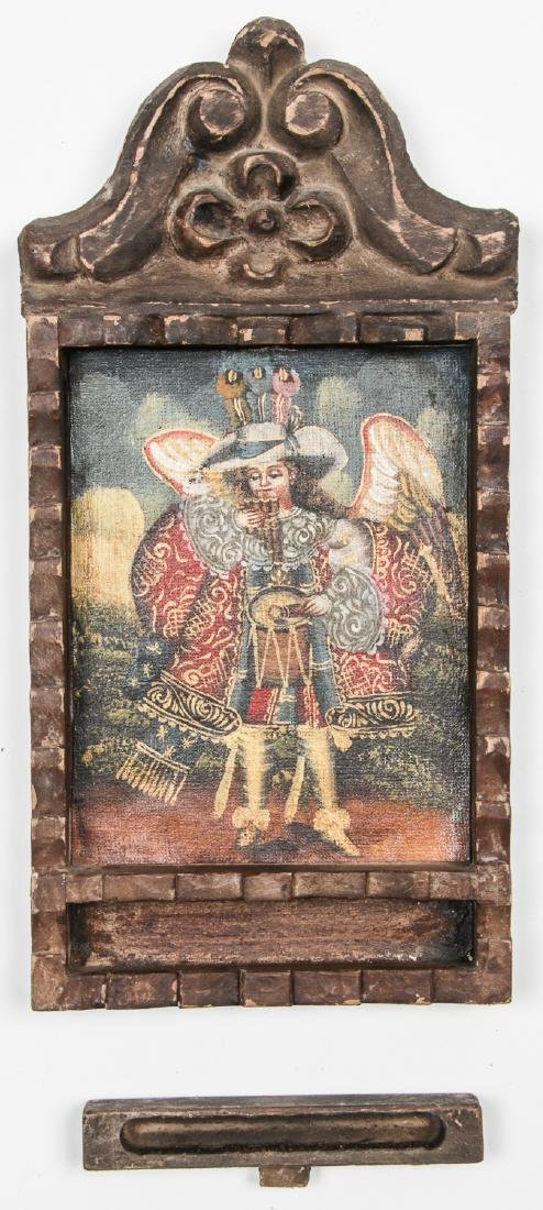 2 Spanish Colonial (Cuzco School) Peruvian Paintings - 8
