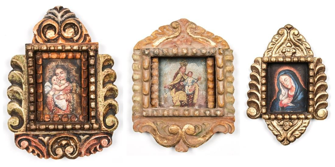 3 Spanish Colonial (Cuzco School) Peruvian Paintings