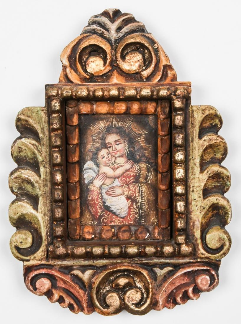 3 Spanish Colonial (Cuzco School) Peruvian Paintings - 2
