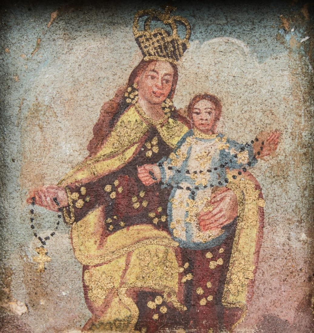 3 Spanish Colonial (Cuzco School) Peruvian Paintings - 6