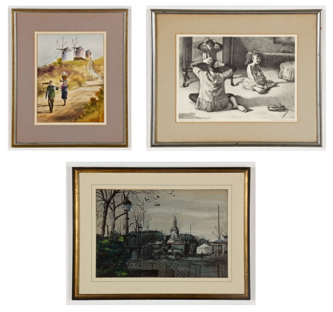 4 Works by Various Artists: Gwen King, Albert Gold,