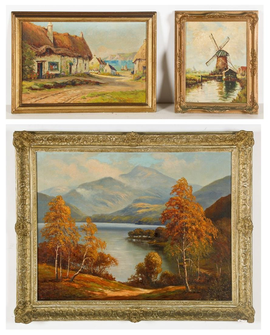 3 Oil Paintings by British Artists: Douglas Conway and