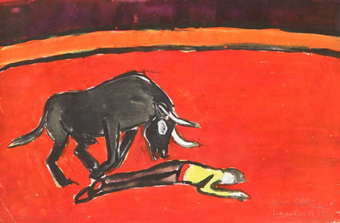 "Joyce Collins (20th c.) ""Matador & Bull"", 1969"