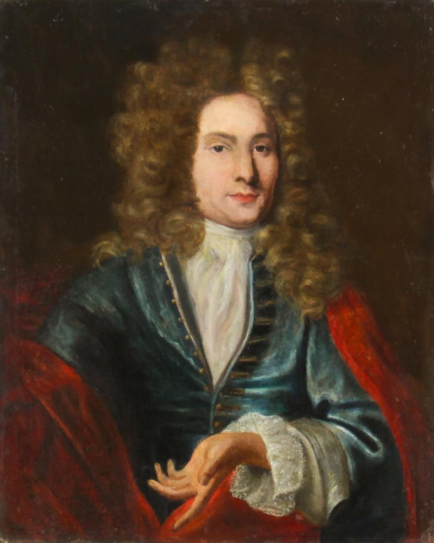 Antique European School Portrait of a Gentleman,