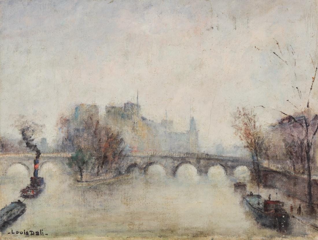 Louis Dali (French, 1905-2001) Paris Winter Scene