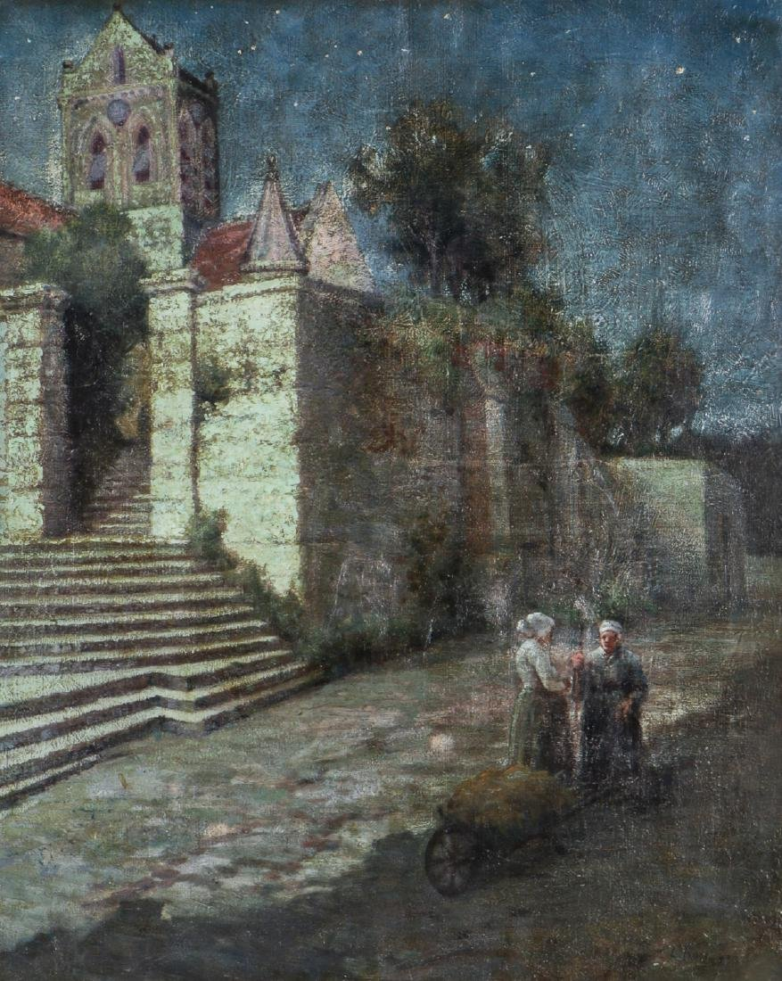 European School (19/20th c.) Landscape with Two Women