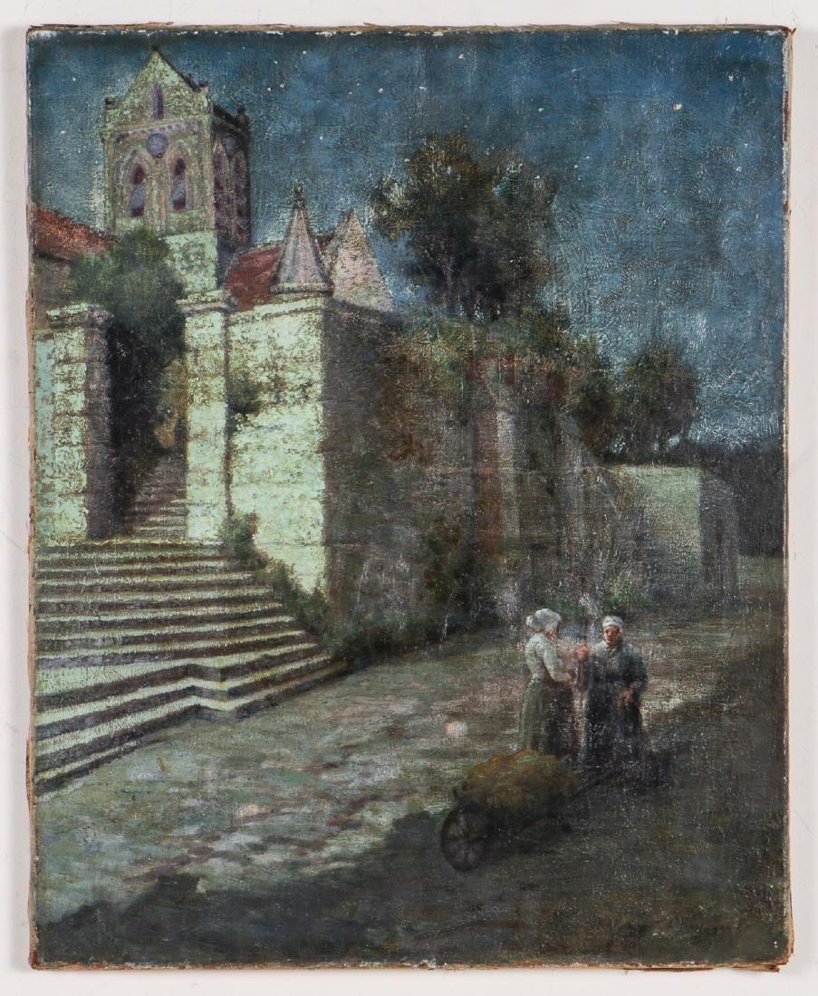 European School (19/20th c.) Landscape with Two Women - 2