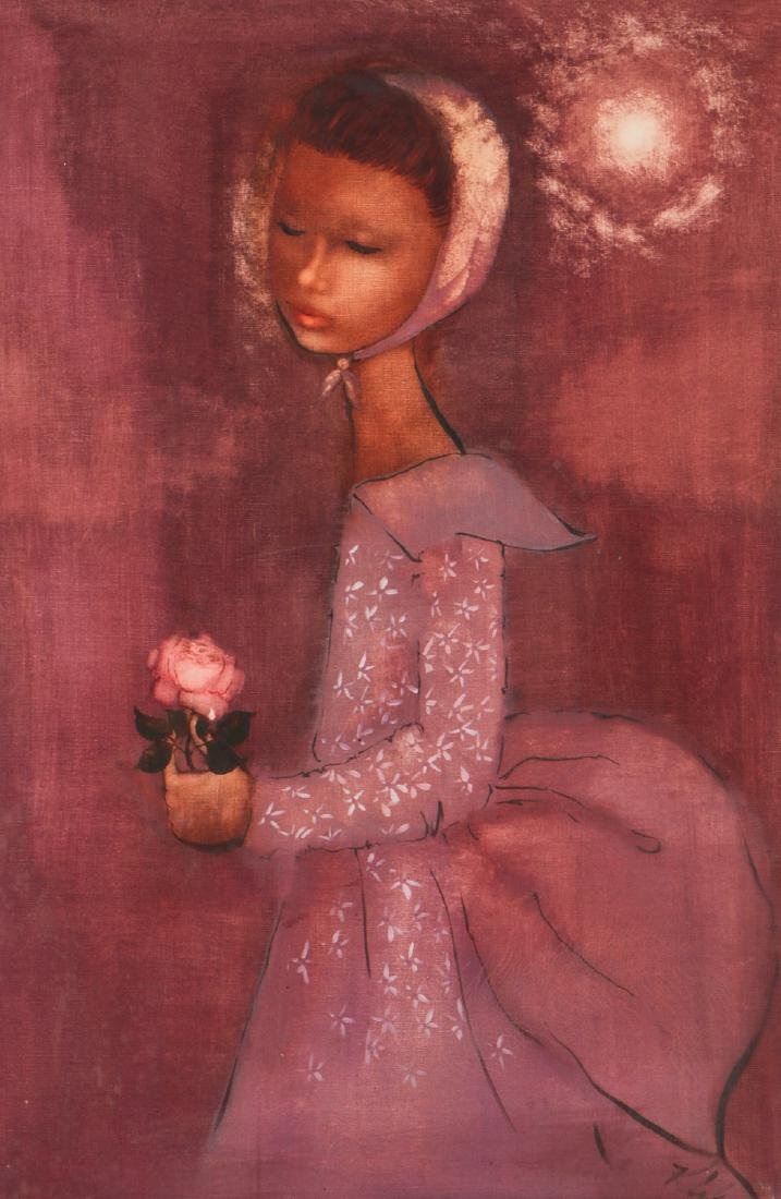 Portrait of a Woman with Rose