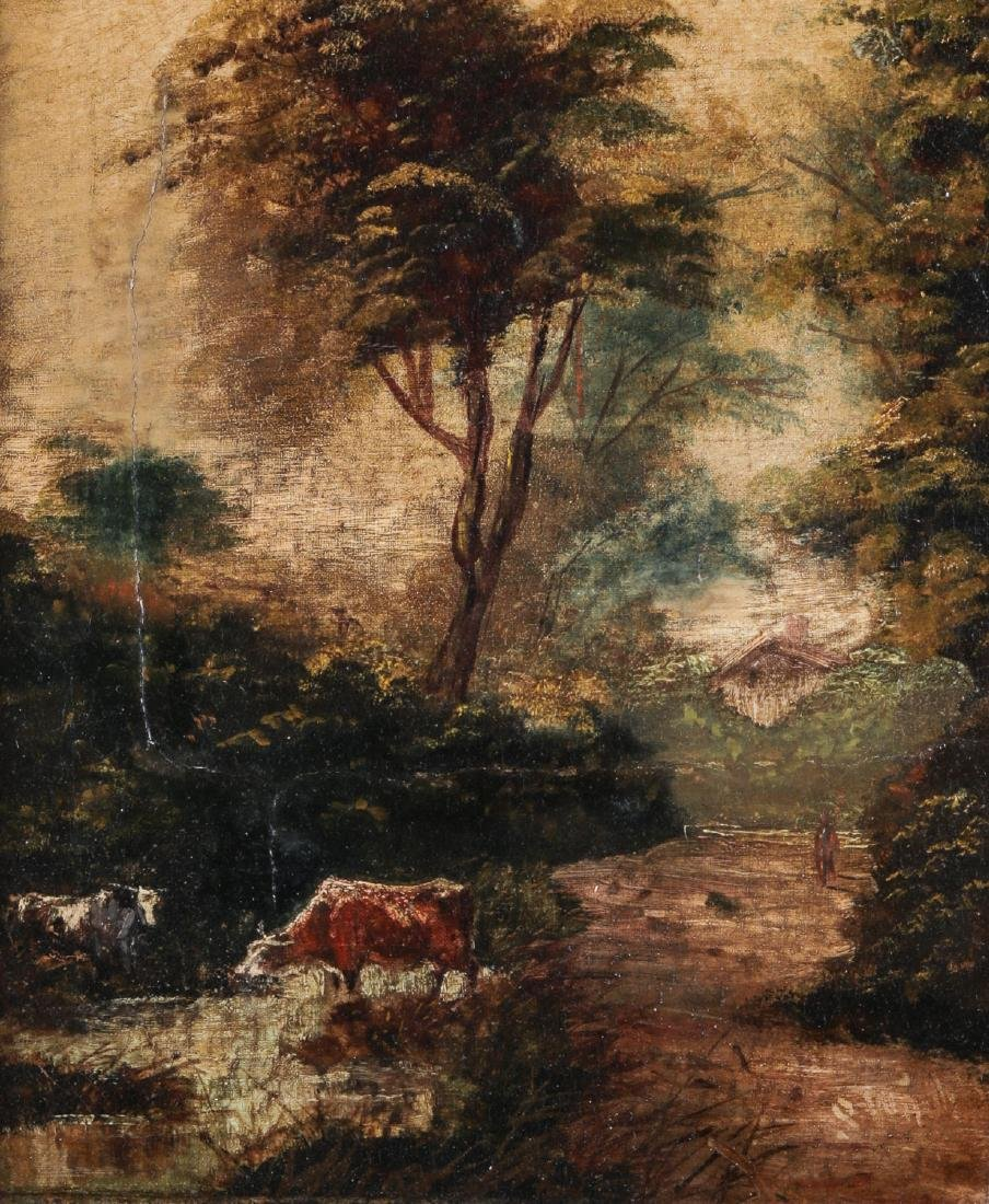 Antique Pastoral Landscape Painting - 2
