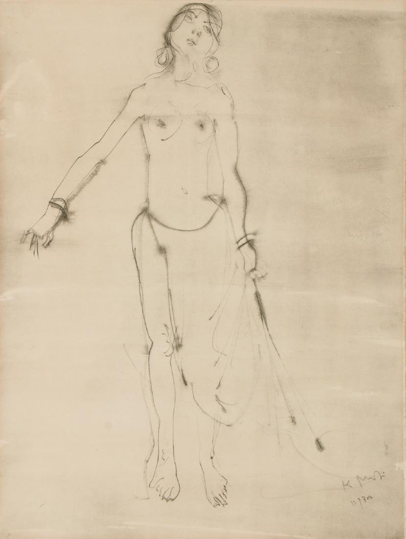 "Kaiko Moti (1921-1989) ""Nude"" Lithograph"