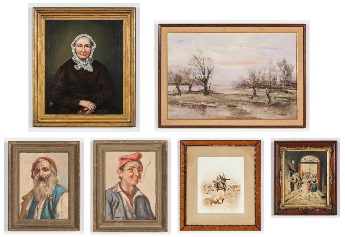 Estate Collection of 6 Works by Various Artists