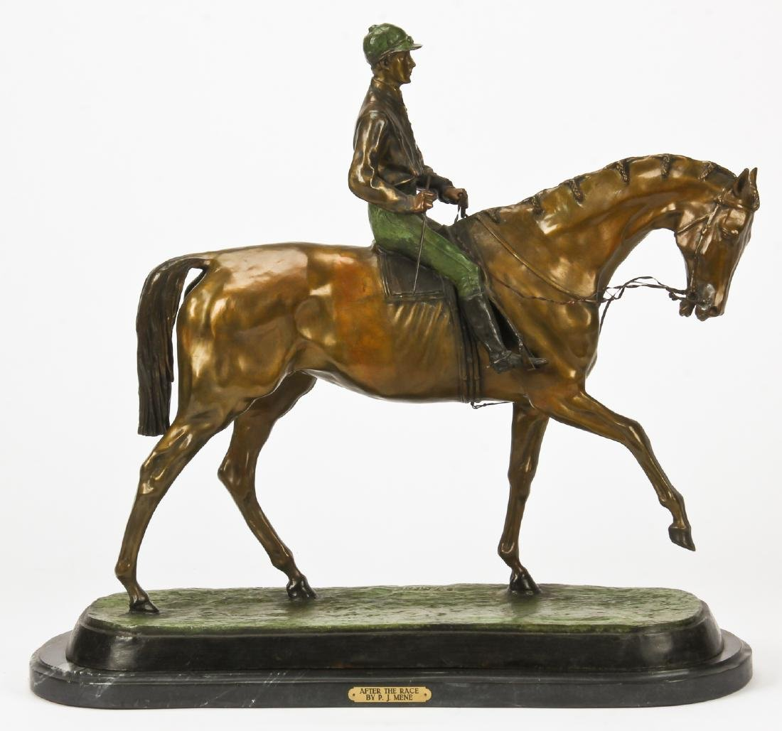 After Pierre Jules Mene (1810-1879) Bronze Horse and