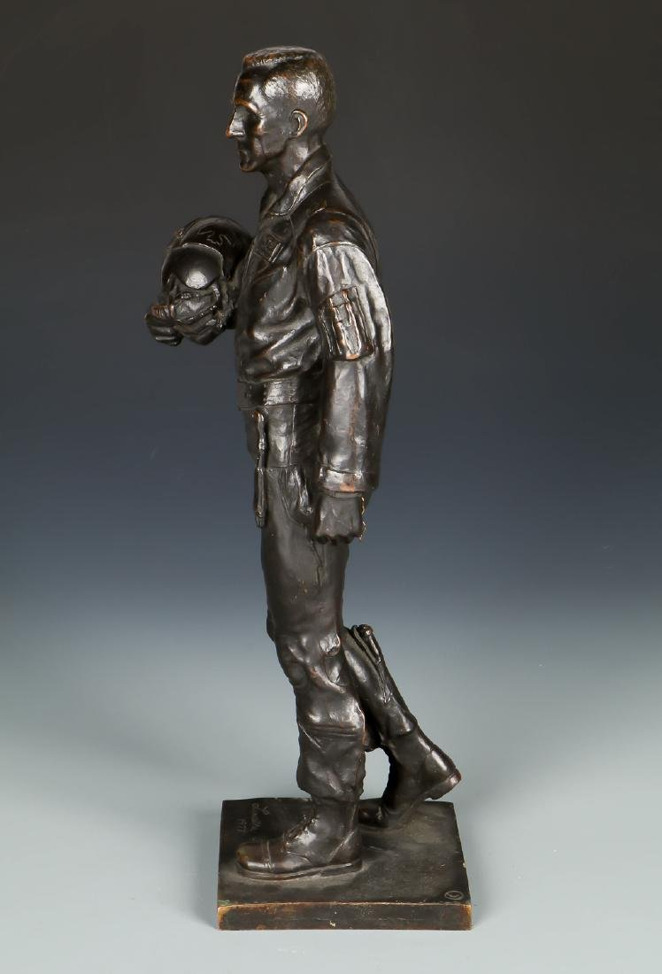 Lawrence M. Ludtke (1929-2007) Bronze Pilot Sculpture - 3