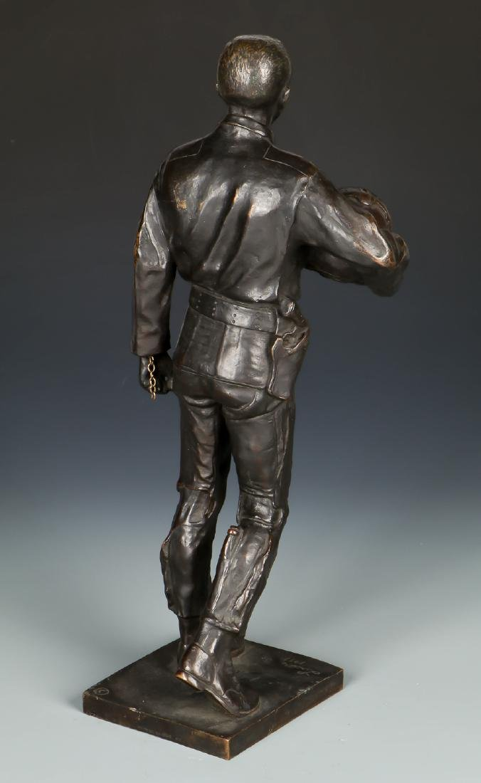Lawrence M. Ludtke (1929-2007) Bronze Pilot Sculpture - 5